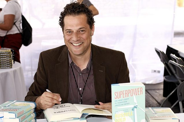 Russell Gold at a book signing