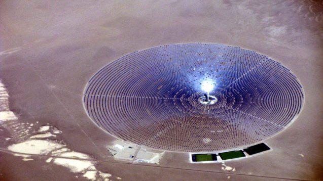 solar power plant in the desert