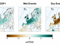 three hydroclimate maps