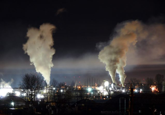 industrial facility and smoke