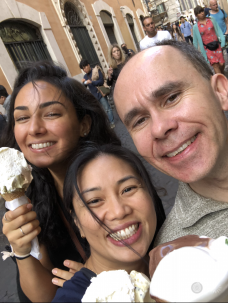 ismini and colleagues eating ice cream