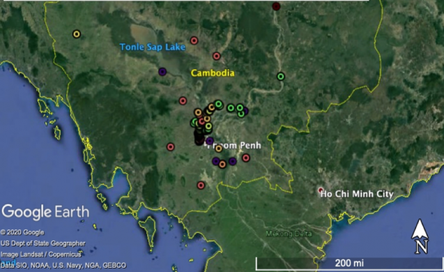 map of study sites