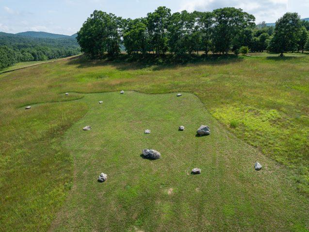 boulders in a field