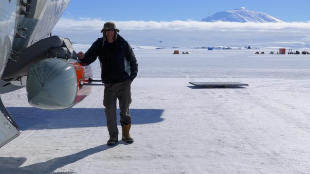 frearson standing next to plane with icepod attached