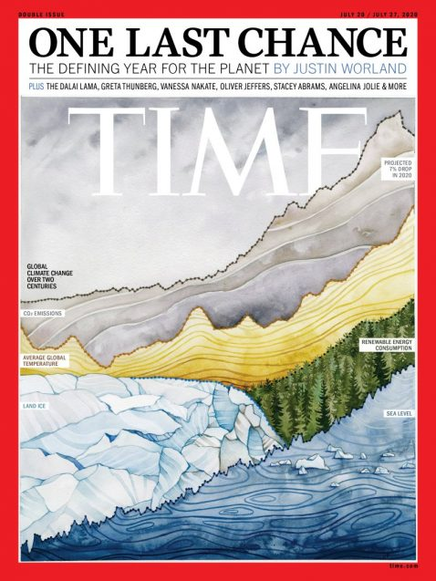 climate artwork on the cover of time mag