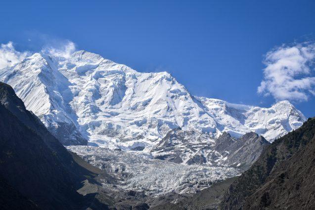 glacier on a mountaintop
