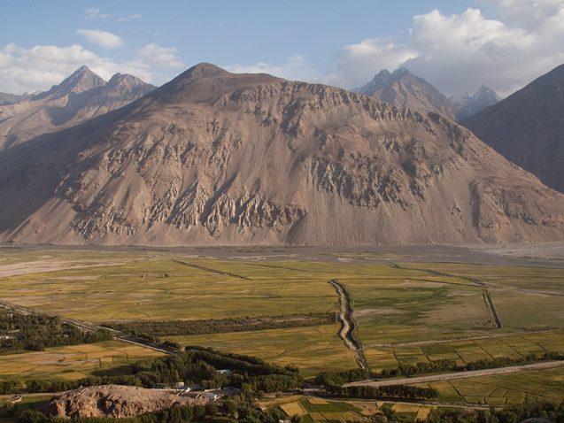 irrigated plain near mountains