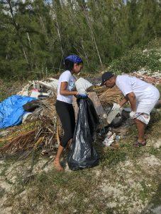 lauren ritchie participating in a beach cleanup