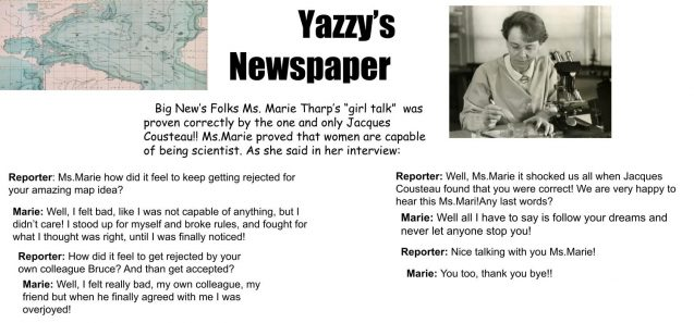 'news stories' about marie tharp