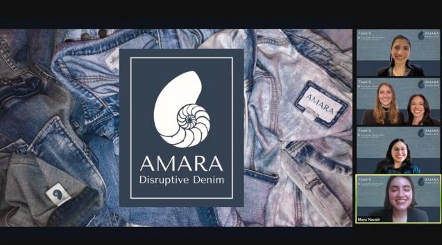 amara brand logo and five students