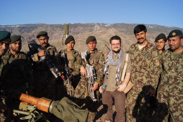 Wesley Morgan, author of 'The Hardest Place,' with Afghan soldiers