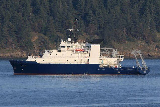 research vessel sally ride in the water