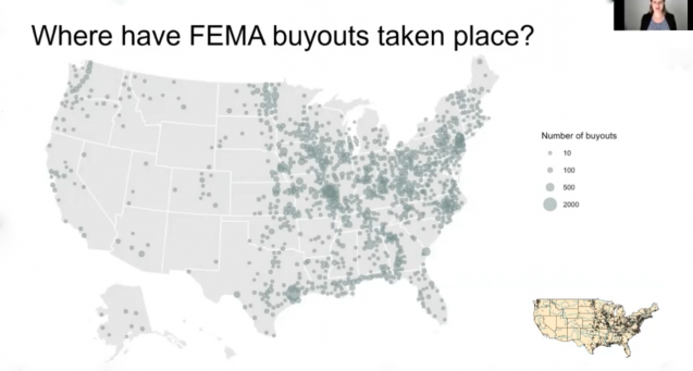 A map of where the FEMA buyouts took place