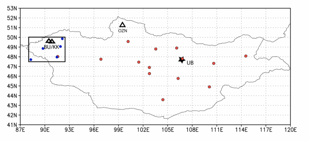 map of study sample sites
