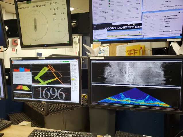 monitors for multibeam echo sounder