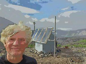 Nick Frearson in the caldera